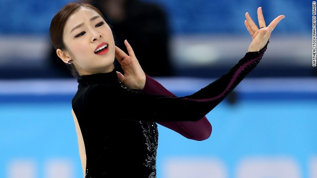 Yuna Kim of South Korea competes in the figure skating event February 20.