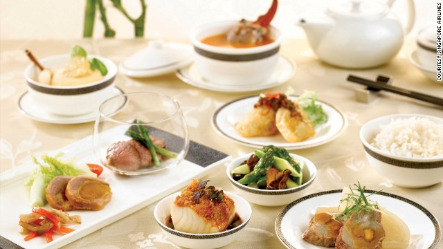"<strong>1. Singapore Airlines</strong>. Among its many best-in-class offerings, Singapore Airlines has a stellar culinary program: There's Givenchy tableware and a special ""Book the Cook"" option that enables passengers to preorder their main course from a lengthy online menu."