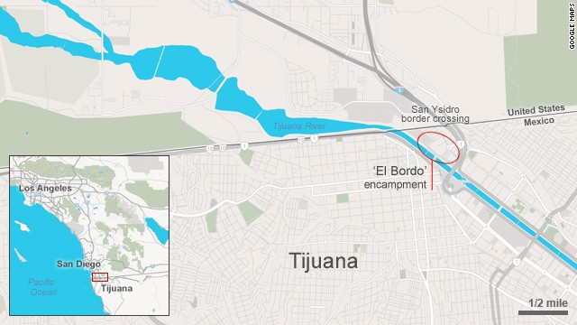 Map: 'El Bordo' encampment
