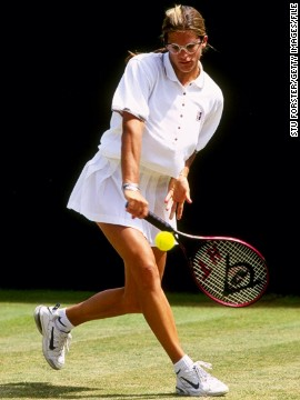 Mauresmo won the junior singles title at Wimbledon in 1996 -- a decade before she would go on to win the senior women's crown.