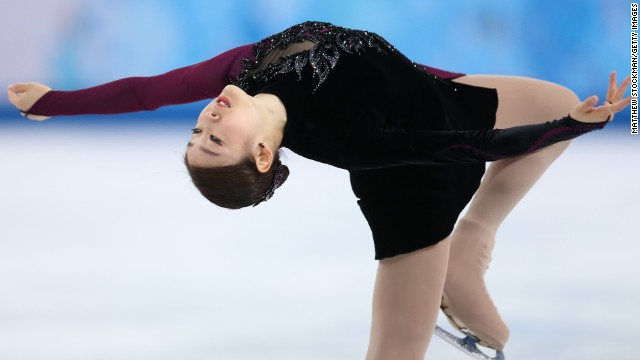 South Korea's Kim Yu-Na performs during Thursday's free skate.