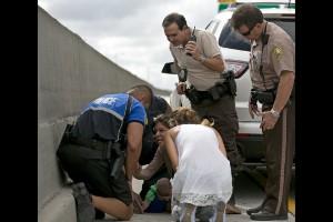 Dramático rescate de un bebé en Miami
