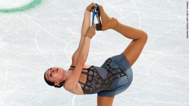 Sotnikova, performing February 20, finished with a score of 224.59, beating Kim by 5.48 points.