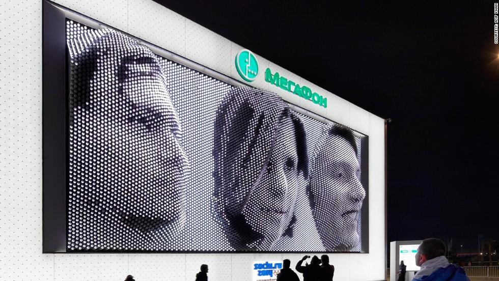 Rostros gigantes en Sochi