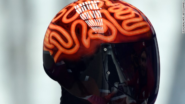 "Not sure if it's because his name's anagram is ""Fair Brain"" or if it's a fashion statement, but Canadian skeleton racer John Fairbairn's helmet was one of the coolest pieces of headgear at the Sochi Games."