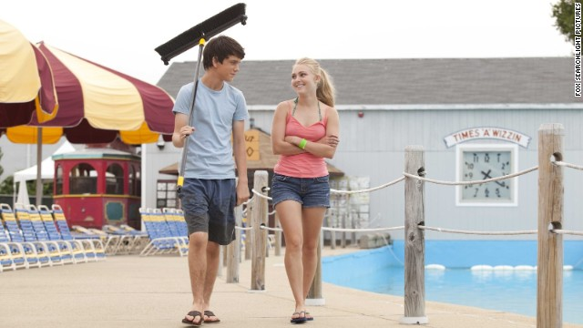 """<strong>""""The Way, Way Back"""" (2013): </strong> A touching, witty new take on """"How I Spent My Summer Vacation,"""" the film stars Liam James, left, as a 14-year-old who joins his mother (Toni Collette) and her unbearable boyfriend (Steve Carell) and his daughter at a beach resort town. Duncan survives by striking up an unexpected friendship with water park manager Owen (Sam Rockwell). AnnaSophia Robb, right, as a next-door neighbor, also wins his affection."""