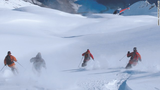 Heli-skiing is the order of the day in New Zealand's Southern Alps with seven different ranges offering nearly 2,000 square kilometers of snow to drop into. A mixture of steep hills and glacial terrain are on offer as well as stunning scenery. <!-- --> </br>