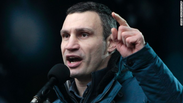 Vitali Klitschko, a former heavyweight boxing champion, has been the biggest and most well-known opposition figure during the crisis. Klitschko heads the Ukrainian Democratic Alliance for Reforms party. In a sign of his influence, it was Klitschko who went to Yanukovych's office for negotiation talks.