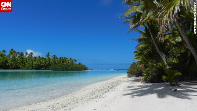 a href='http://ireport.cnn.com/docs/DOC-1092400'Melanie Mattila/a visited One Foot Island in Aitutaki in October 2013. Aitutaki is one of the Cook Islands in the South Pacific. She says she enjoyed the tranquility of the beach the most.