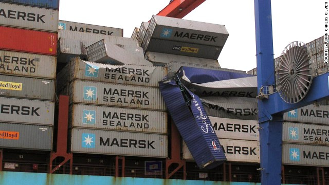 French maritime authorities were alerted by Maersk that vessels should look out for floating containers, but most sank quickly in the rough seas. Thirteen have been recovered, according to French officials.