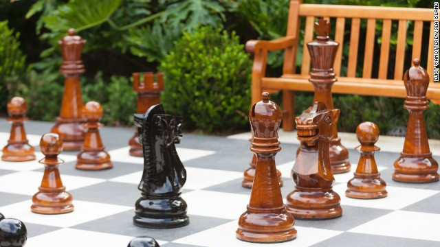 The resort at Sea Island, Georgia, features a life-size chess board on its property plus weekly Bingo, where men older than 12 are required to don a jacket to participate.