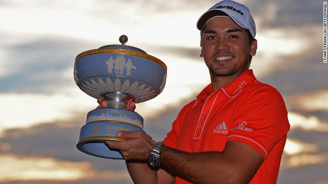 Australia's Jason Day finally gets his hands on the WGC World Match Play trophy in Arizona.