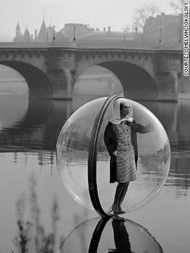 "This photo, ""Bubble Seine"", was recently named as the most iconic image in 100 years of fashion by the Victoria and Albert Museum in London."