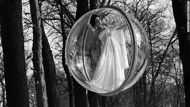 Here Simone D'Aillencourt, one of Sokolsky's models of choice, seemingly floats ethereally among trees.