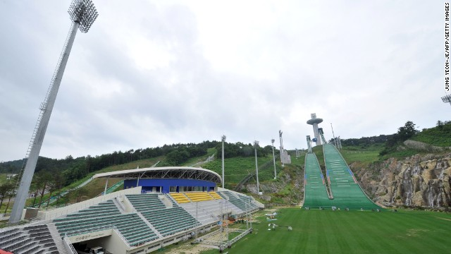 Pyeongchang already boasts a decent competition infrastructure, such as this ski jump stadium.