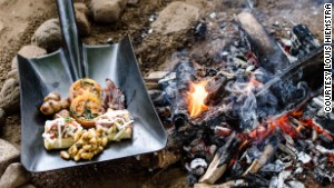 Braai TV challenge: cook and serve a meal on a shovel.