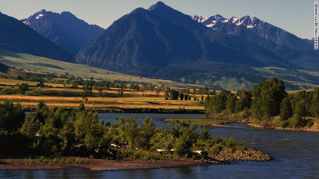 Established in 1872, Yellowstone National Park is one of the few remaining large, intact ecosystems in the planet's northern temperate zone. The Yellowstone River is shown here.
