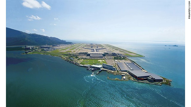 Informally known as Chek Lap Kok, H.K.'s main airport was built on land specially reclaimed for the purpose.