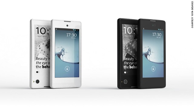 Russia's YotaPhone showed off an Android handset with an <a href='http://techland.time.com/2013/01/09/hands-on-with-russias-yotaphone-finally-something-different/' target='_blank'>interactive e-ink display</a> on its back.