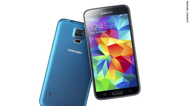 The Samsung Galaxy S5, with heart rate monitor and some<a href='http://money.cnn.com/2014/02/24/technology/mobile/samsung-galaxy-5-hands-on/'> new, high-spec features</a>.