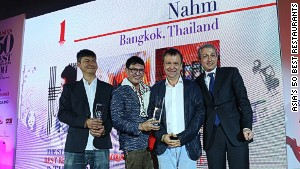 nahm took the top spot at the 2014 S. Pellegrino & Acqua Panna Asia\'s 50 Best Restaurants Awards.