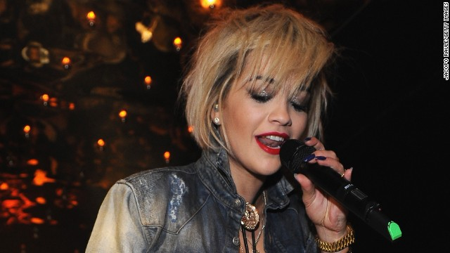 On February 20, Rita Ora was running her hands through long blonde waves as she walked the runway of Moschino's show during Milan Fashion Week. But by February 23, those tresses were nothing but a memory: the singer debuted a spiky bob at the Philipp Plein show that same week.