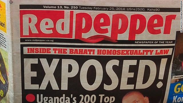 Tabloide de Uganda publica una lista de supuestos homosexuales