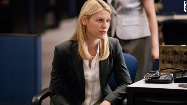 "Claire Danes as Carrie Mathison in a scene from season 3 of Showtime's series ""Homeland."" The taut espionage drama has been full of don't-spoil-them twists, including the death of a major character."