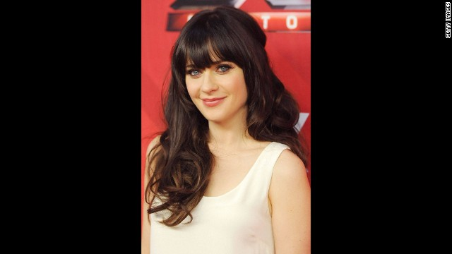 Zooey Deschanel -- To see the rest of the gallery <a href='http://www.elle.com/pop-culture/celebrities/best-celebrity-bangs-in-history?link=rel&dom=cnn_living&src=syn&mag=elm' target='_blank'>visit Elle.com</a>.