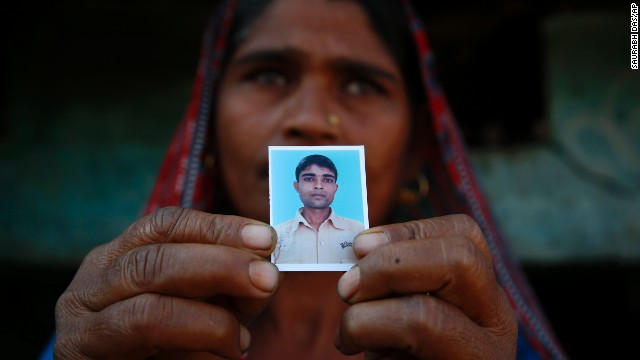 Tarabati says she wants the tiger shot dead. She is still grieving for the son she lost. Shiv Kumar, 22, was killed in January after the tiger stalked him in a nearby sugarcane field.