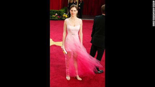 Before Hilary Swank set a new standard for Oscar dresses in 2005, she wore this gauzy pink gown to the 2003 awards. We can see its appeal -- it's breezy! it's bright! -- but it left many critics turned off.
