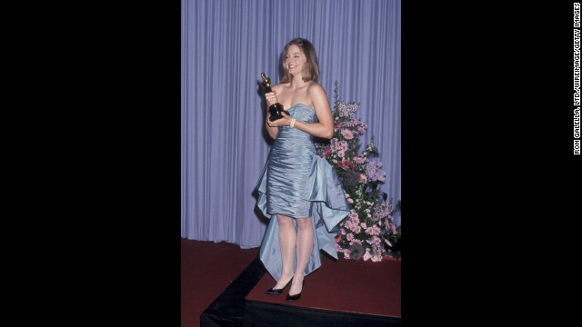 "We'll cut 1988 Jodie Foster some slack because she did win a best actress Oscar that year for ""The Accused."" Instead, we'll blame this sky-blue mullet of a prom dress on it being the '80s -- and on the person who told her it was a good idea to shop off the rack."