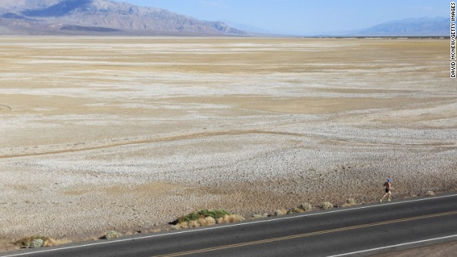 <strong>Lowest spot in the U.S.:</strong> Death Valley, California. The valley's lowest point is 282 feet below sea level. Death Valley is the hottest place on Earth with a scorching record high of 134° F (57°C) on July 10, 1913.