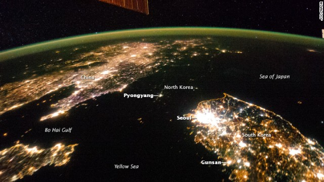 Where did North Korea go? Pyongyang looks like a tiny island in a sea of darkness in recent photos captured by NASA .