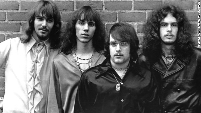 Nugent, far right, is seen with The Amboy Dukes circa 1970. Nugent began recruiting members for the band after his high school graduation in 1967.