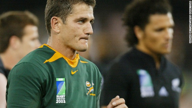 Van der Westhuizen played his final Test match for South Africa against New Zealand, in a quarterfinal defeat at the 2003 World Cup. At the time of his retirement, Van der Westhuizen was the most-capped player in Springboks history.