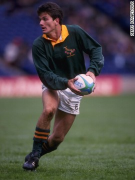 The scrum-half made his debut for South Africa against Argentina in Buenos Aires in 1993, scoring a try in a 29-26 win for the Springboks.