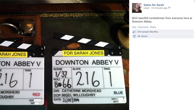 "Workers from the set of ""Downton Abbey"" shared their condolences. By Wednesday afternoon, more than 30,000 people had ""liked"" the Facebook group."