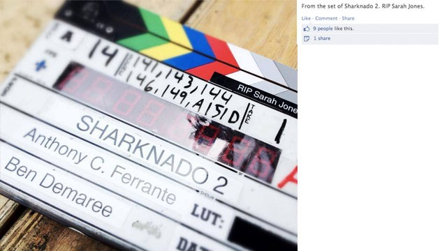 "Even the crew on the set of ""Sharknado 2"" shared their message of remembrance."