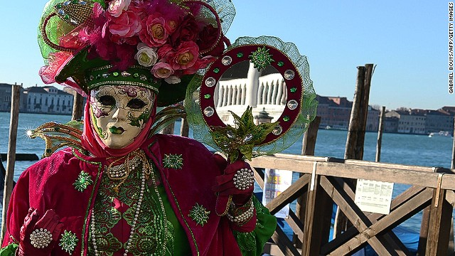 "Of course it's not all fear and anxiety. <a href='http://www.carlaalmanza-dequant.com/index.htm' target='_blank'>Carla Almanza-de Quant</a>, an artist and Venetian mask maker in California, says that masks actually un-mask the person inside of us. ""Once you put on a mask you're cheerful, you're playful, you're a more wonderful you,"" she says. ""You become a fantasy character and you interact with others in a more outgoing way."""