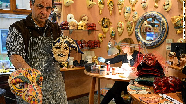 Traditional Venetian masks are made by hand. Artisans first create a paper mache base, and then they apply paint, lace, feathers and jewels. Increasingly masks are not merely sold for masquerades, but also for weddings, corporate parties, fashion shows, and other social events.