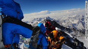 Around 300 people attempt to climb Everest every year.