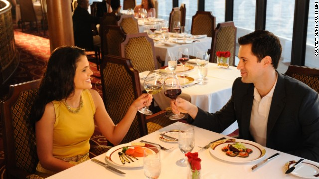 Parents and other adults can enjoy grown-up dinners aboard the Disney Fantasy, which may be why the entertainment giant's cruise ship won the best dining award in the large ship category.