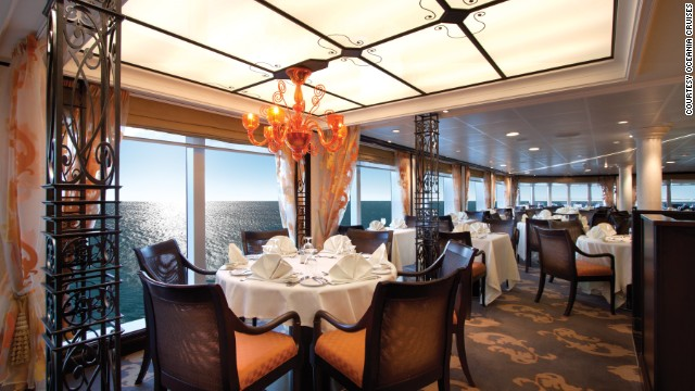 Oceania's Riviera ship took 3 of the top 10 honors in the mid-size category, including best dining, best cabins and best public rooms. Dine at Jacques, a restaurant by Jacques Ppin, and take cooking classes in the Bon Apptit Culinary Center.