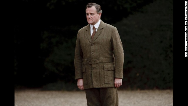 Lord Grantham in his walking tweeds, an ensemble appropriate for roaming the estate.