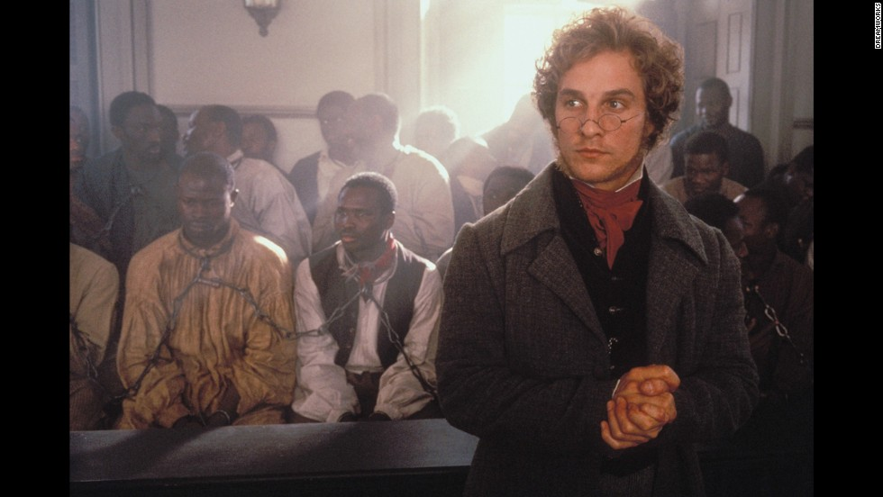 """Actor Matthew McConaughey is heavily favored to win the best actor Oscar on Sunday for his role in """"Dallas Buyers Club."""" Here is a look at McConaughey's career, starting with the 1997 film """"Amistad,"""" pictured."""