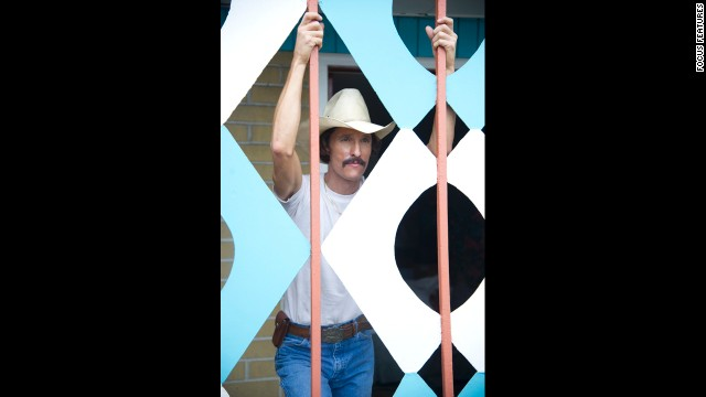 "Critics fell head over heels for McConaughey's turn as Ron Woodroof, an electrician who battles to get the AIDS medicine he needs in ""Dallas Buyers Club."" The role earned McConaughey his first Oscar nomination and his first win."