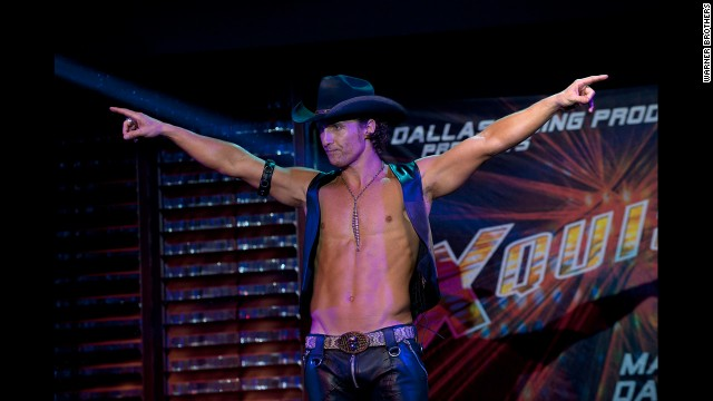 "A buff McConaughey shows off both his pecs and his dance moves in 2012's ""Magic Mike."""