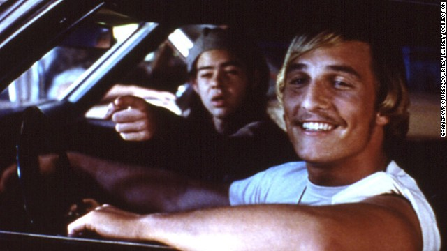 "The 1993 film ""Dazed and Confused"" is one of McConaughey's most beloved movies. The actor, in the foreground here with Rory Cochrane, quoted his stoner character when he accepted a Golden Globe in January: ""All right, all right, all right."""