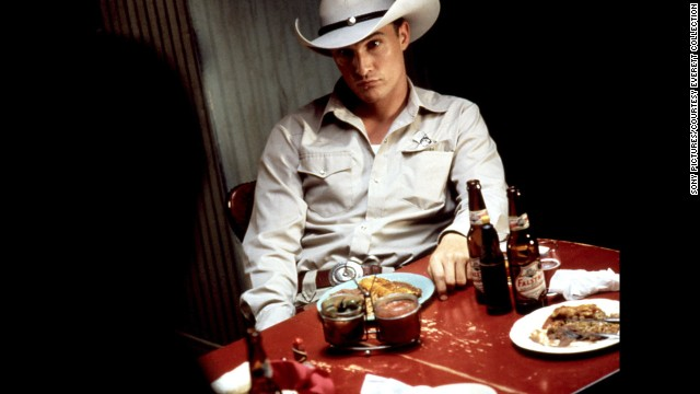 "McConaughey plays a sheriff in a small Texas town in the 1996 movie ""Lone Star."""